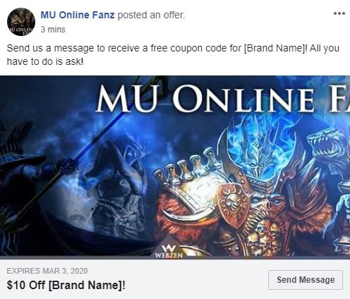 Facebook Offer Ad