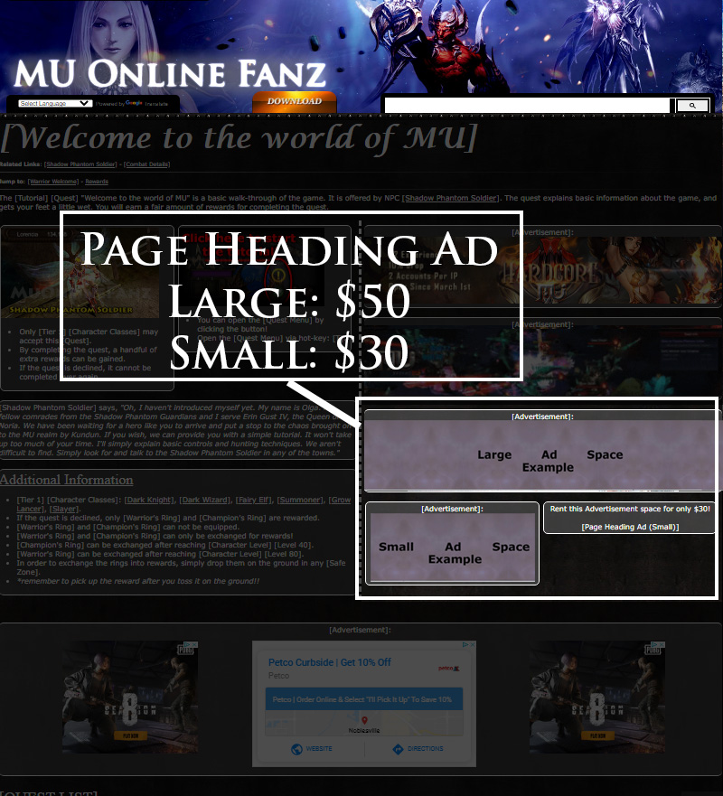 [Page Heading Ad]