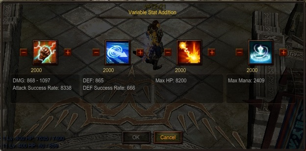 Variable Stat Addition Window