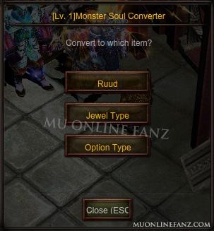 [Monster Soul Converter] Reward List