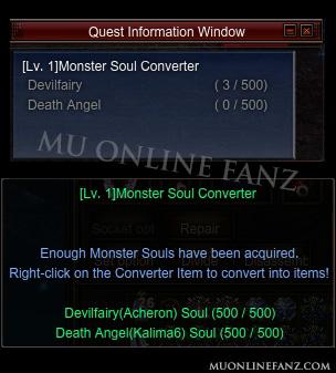 [Monster Soul Converter] UI