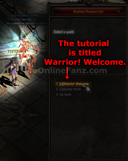 [Warrior! Welcome] [Quest]