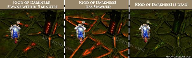 God of Darkness status